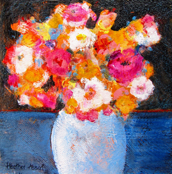 """Flower Play II', 15""x15"", $160.00, Available from the Artist."